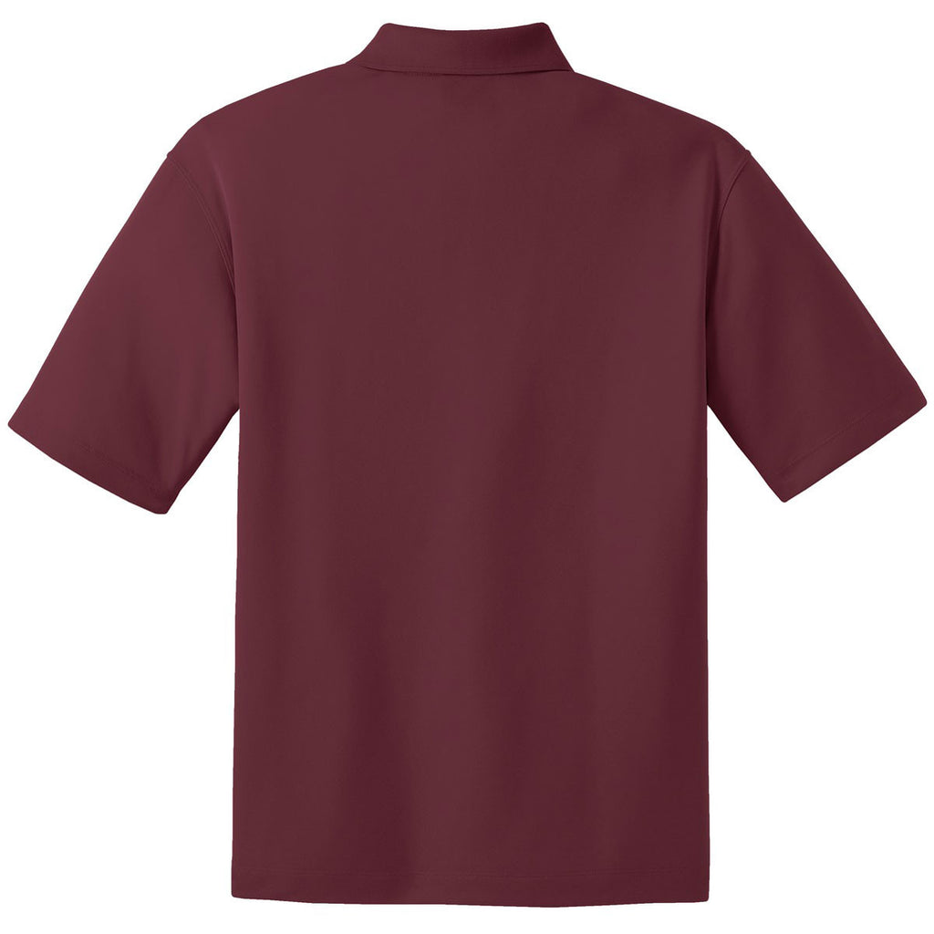 Nike Men's Tall Burgundy Dri-FIT S/S Micro Pique Polo