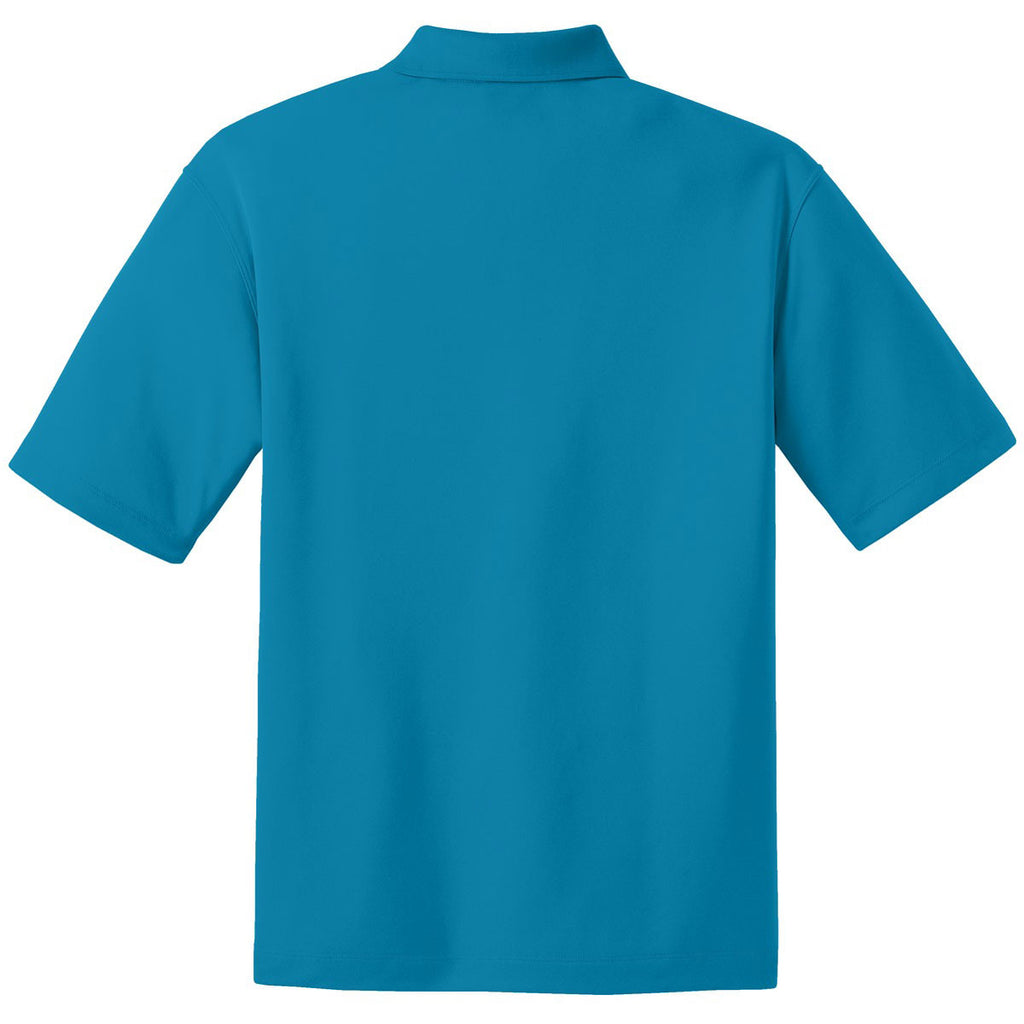 Nike Men's Tall Bright Blue Dri-FIT Short Sleeve Micro Pique Polo