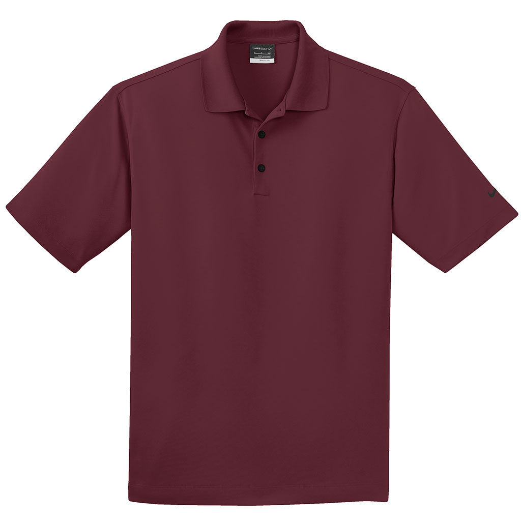 60acbef4ee434 Nike Men's Tall Burgundy Dri-FIT Short Sleeve Micro Pique Polo. ADD YOUR  LOGO