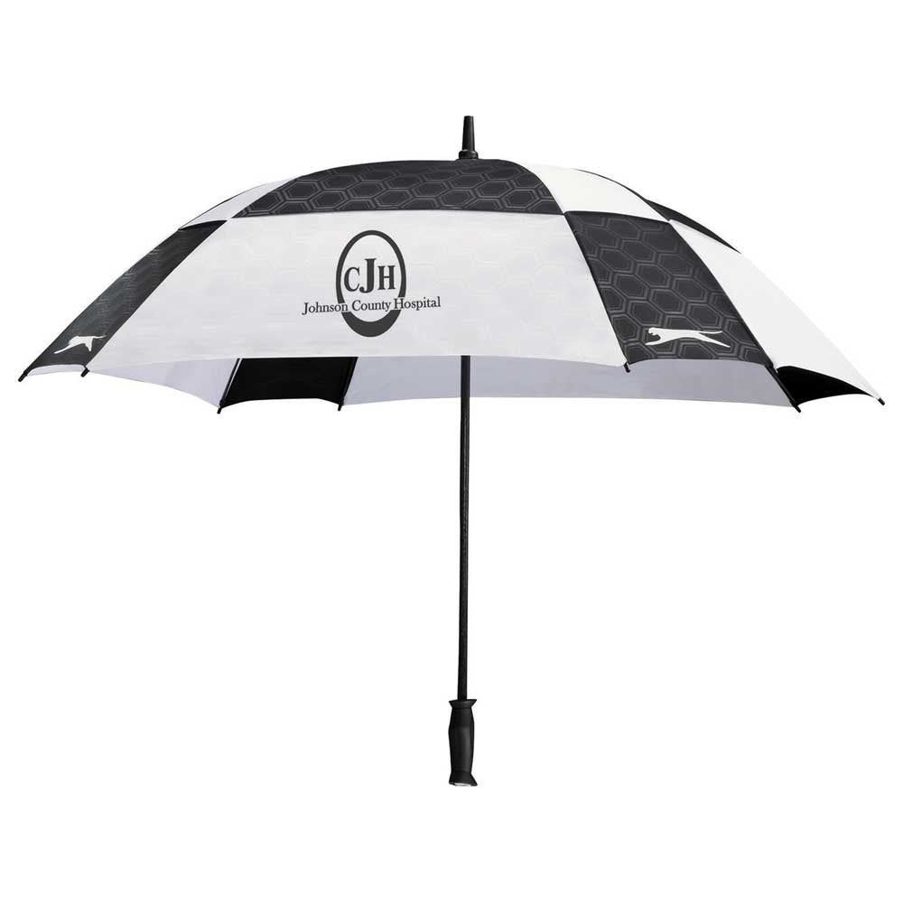"Slazenger Black/White 60"" Cube Golf Umbrella"