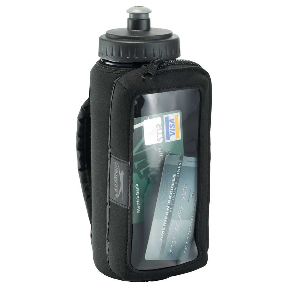 Slazenger Black Handheld Sport Bottle with Phone Holder