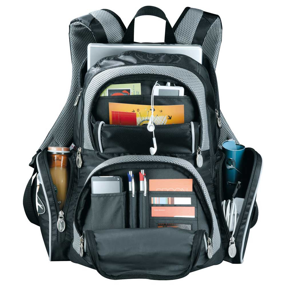 "Slazenger Black Turf Series 15"" Computer Backpack"