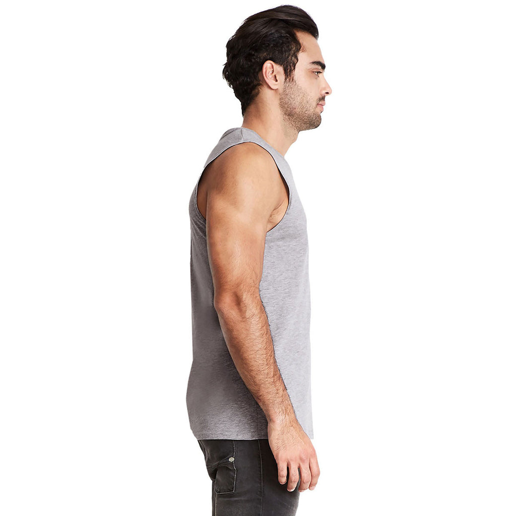 Next Level Men's Heather Grey Muscle Tank