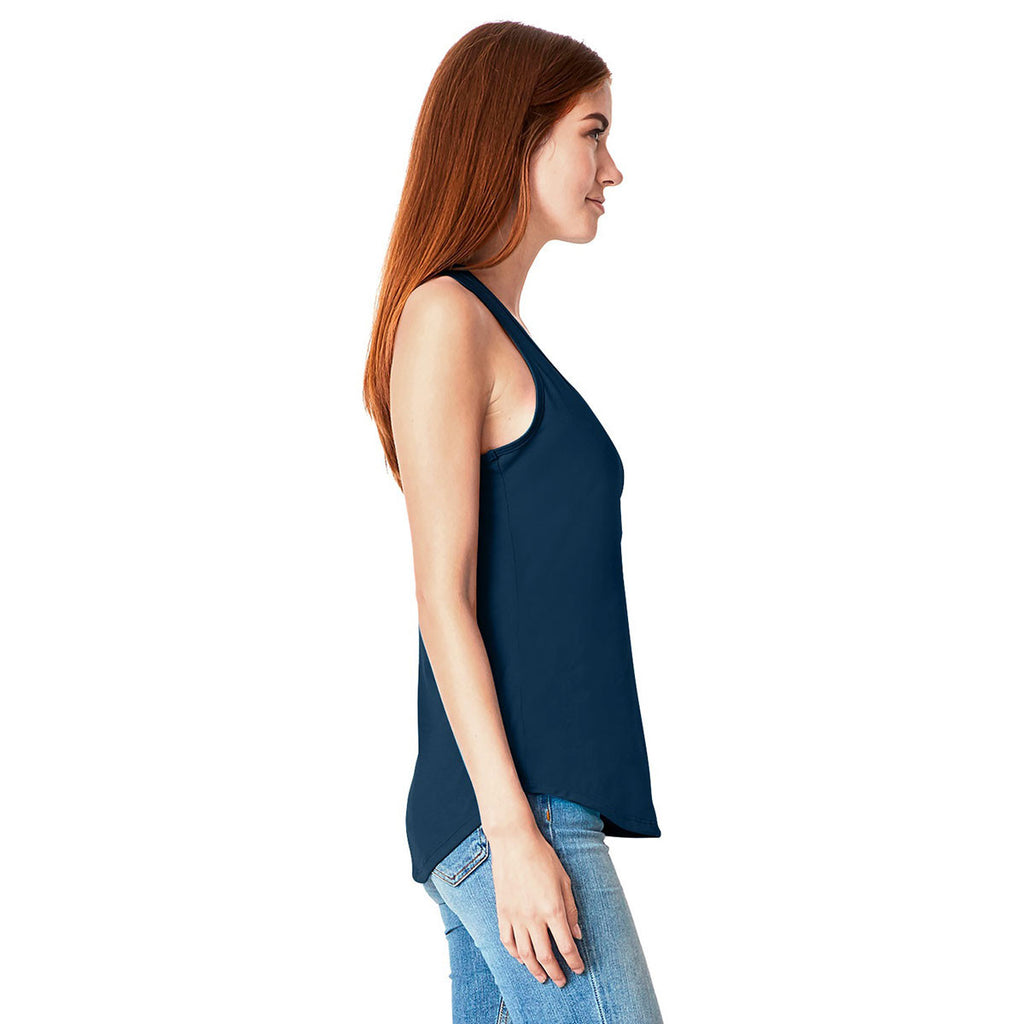 Next Level Women's Midnight Navy Gathered Racerback Tank