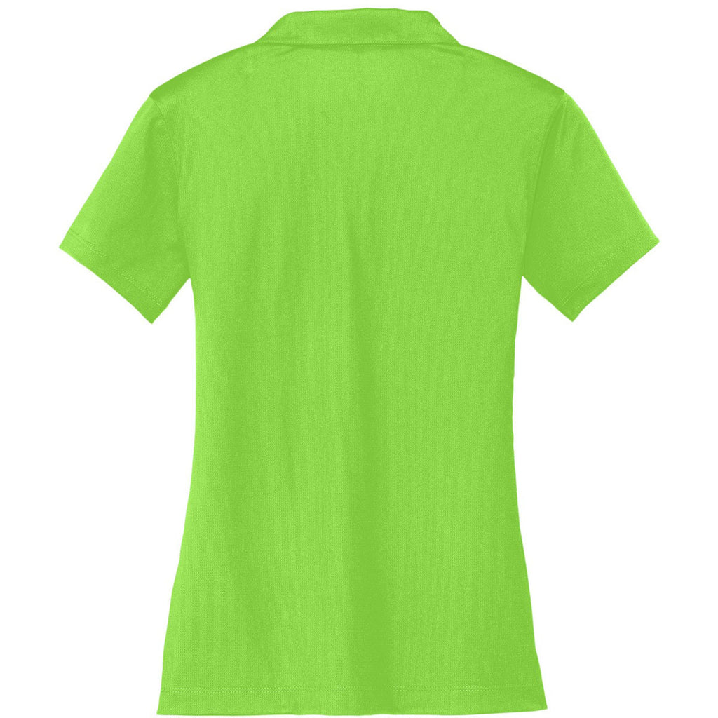 Nike Women's Green Dri-FIT S/S Vertical Mesh Polo