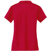 Nike Women's Red Dri-FIT S/S Vertical Mesh Polo