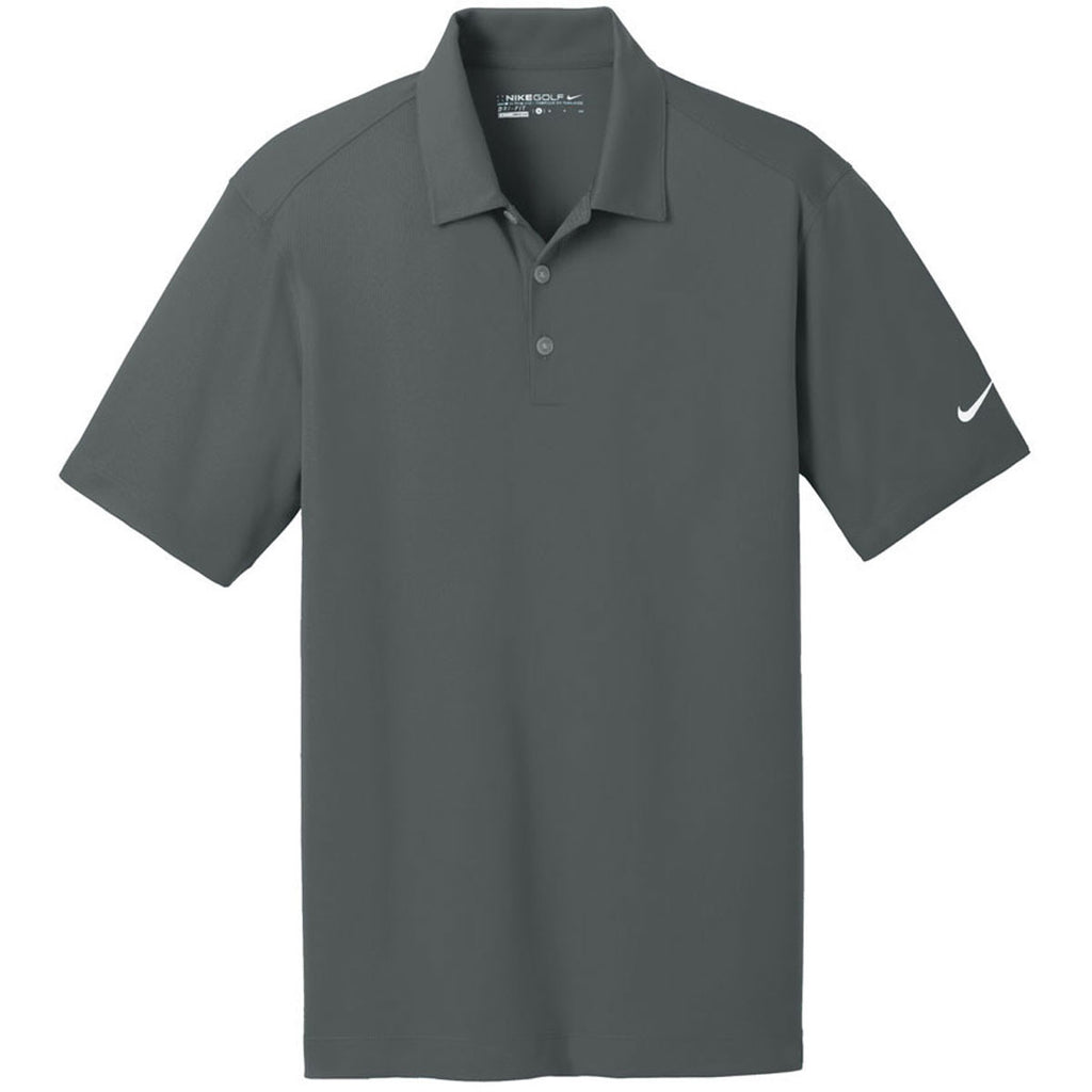 9144c4055 Nike Men's Anthracite Dri-FIT Short Sleeve Vertical Mesh Polo. ADD YOUR LOGO