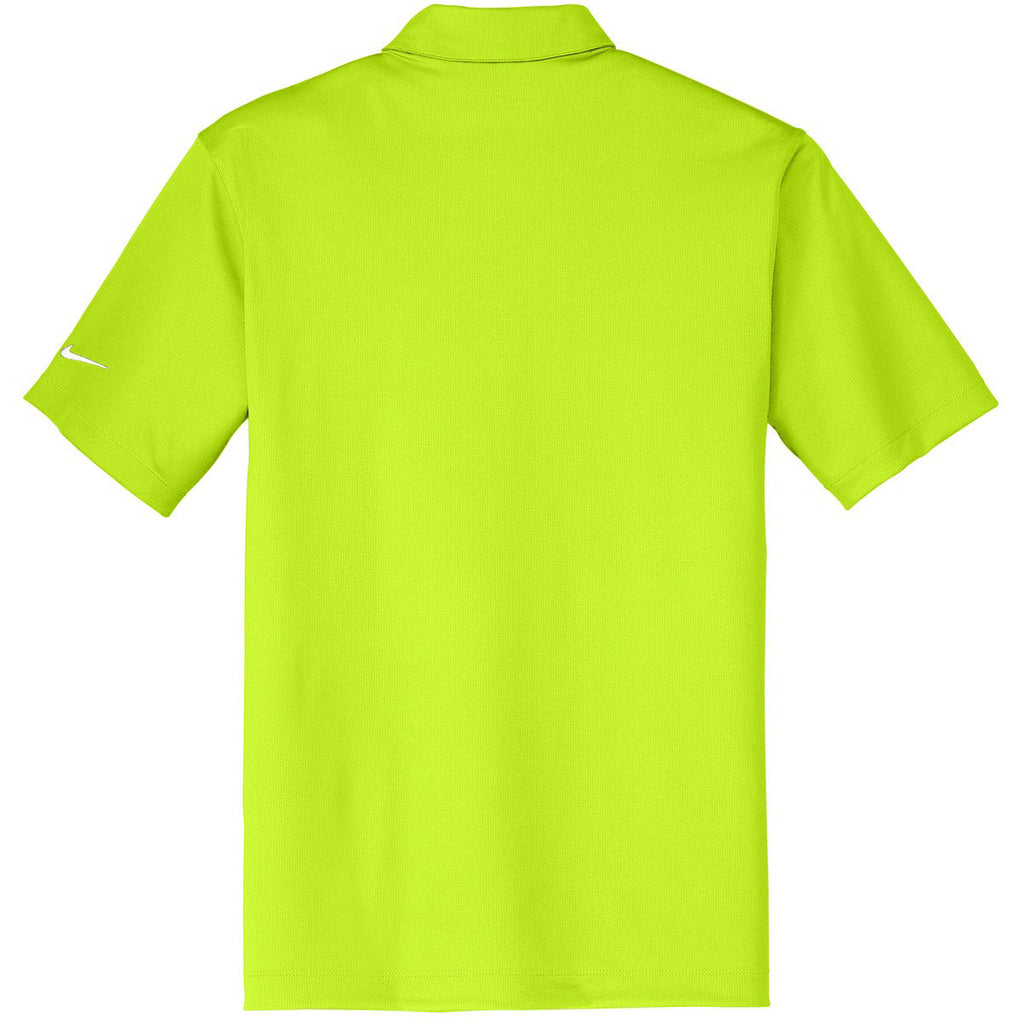 Nike Men's Bright Green Dri-FIT S/S Vertical Mesh Polo