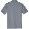 Nike Men's Grey Dri-FIT Short Sleeve Vertical Mesh Polo