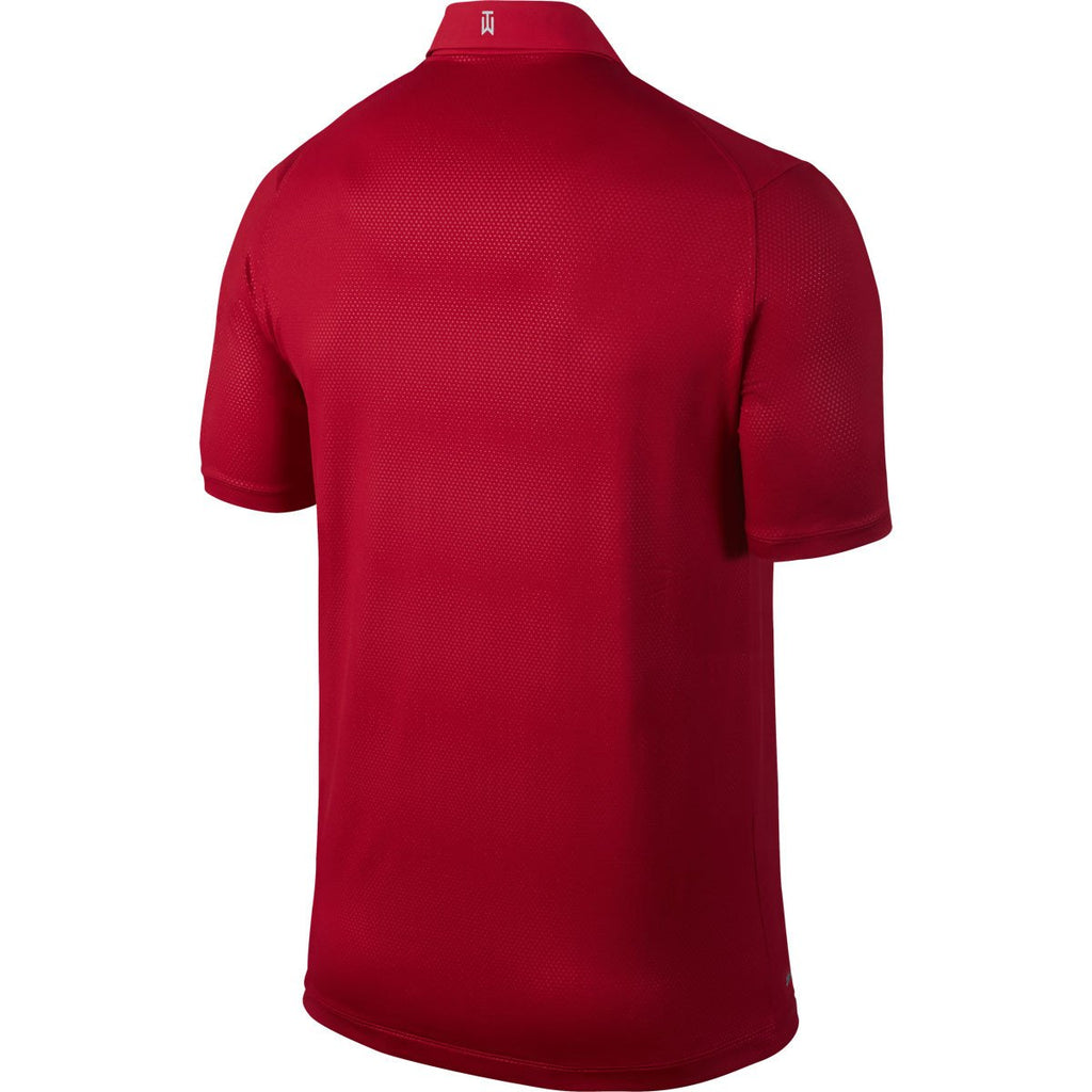 Nike Men's Gym Red TW Seasonal Emboss Polo