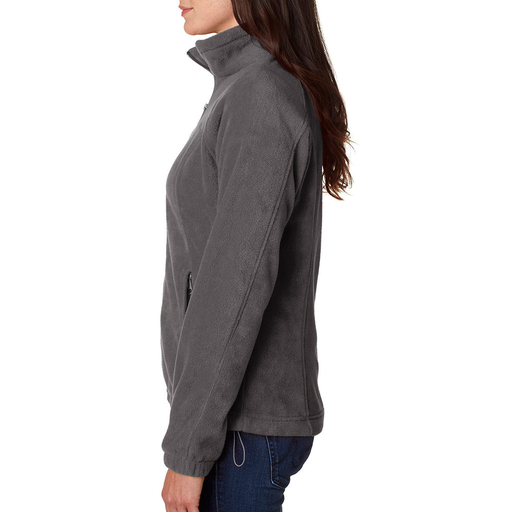 Columbia Women's Charcoal Grey Benton Springs Full-Zip Fleece