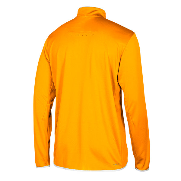 adidas Men's Collegiate Gold/White Team Iconic Knit Long Sleeve Quarter Zip