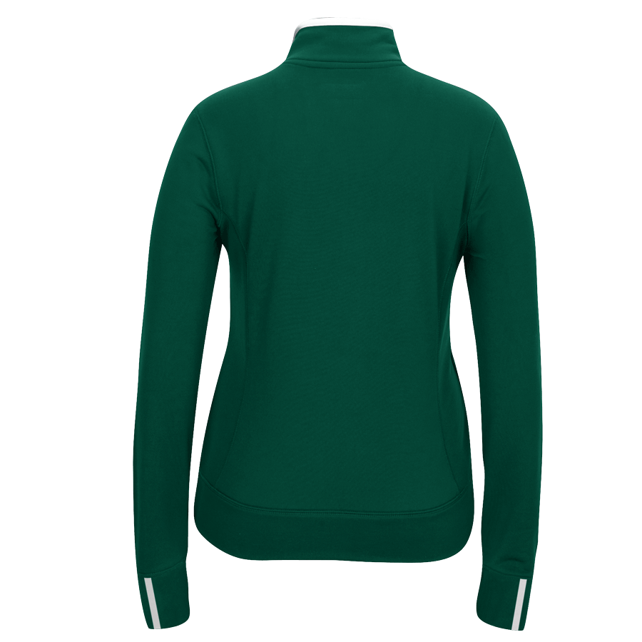 adidas Women's Dark Green Climalite 1/4 Zip