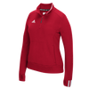6783-adidas-womens-red-one-fourth-zip