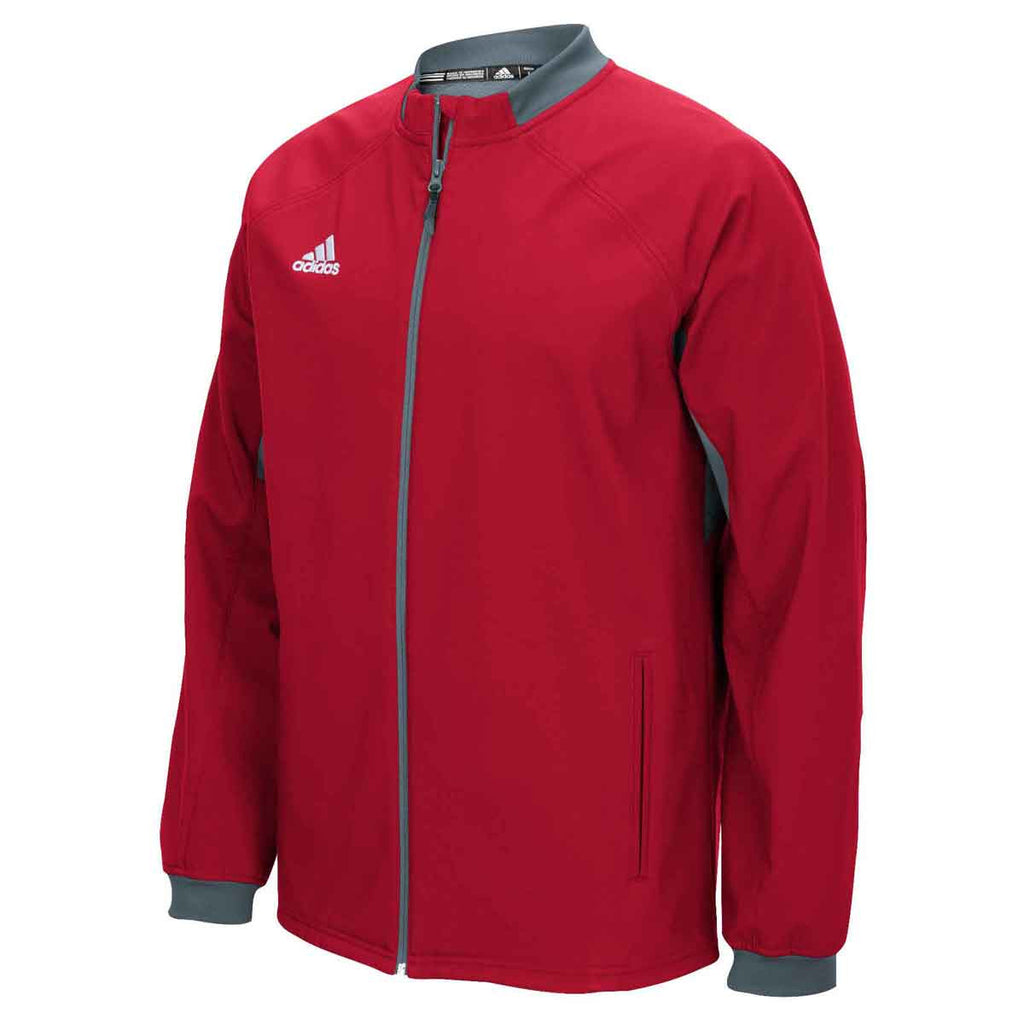 81cdfc693150 adidas Men s Power Red Onix Climawarm Fielder s Choice Warm Jacket