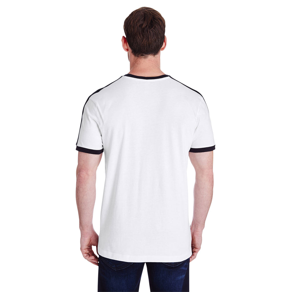 LAT Mens 60//40 Cotton//Polyester Vintage Heathered Jersey Crew Neck Short Sleeve Tee