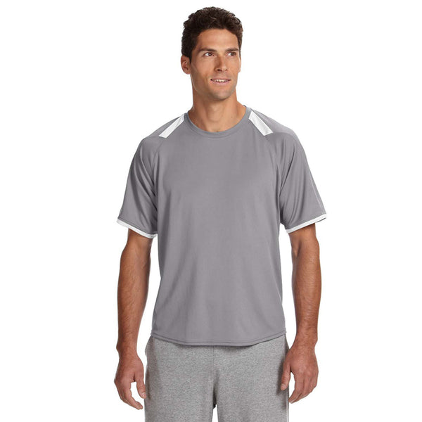 Russell Athletic Men S Steel White Dri Power T Shirt With