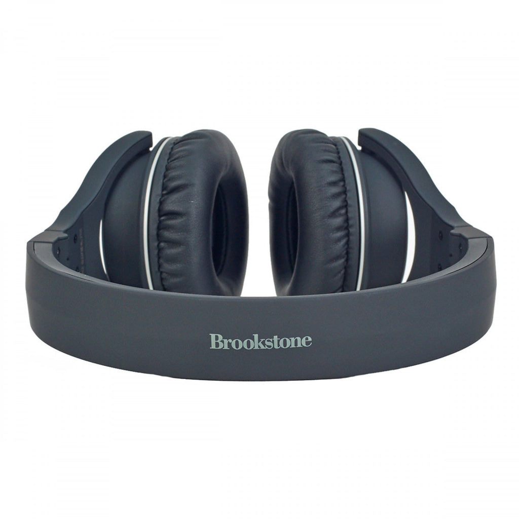 Brookstone Black Bluetooth Compact Wireless Headphones