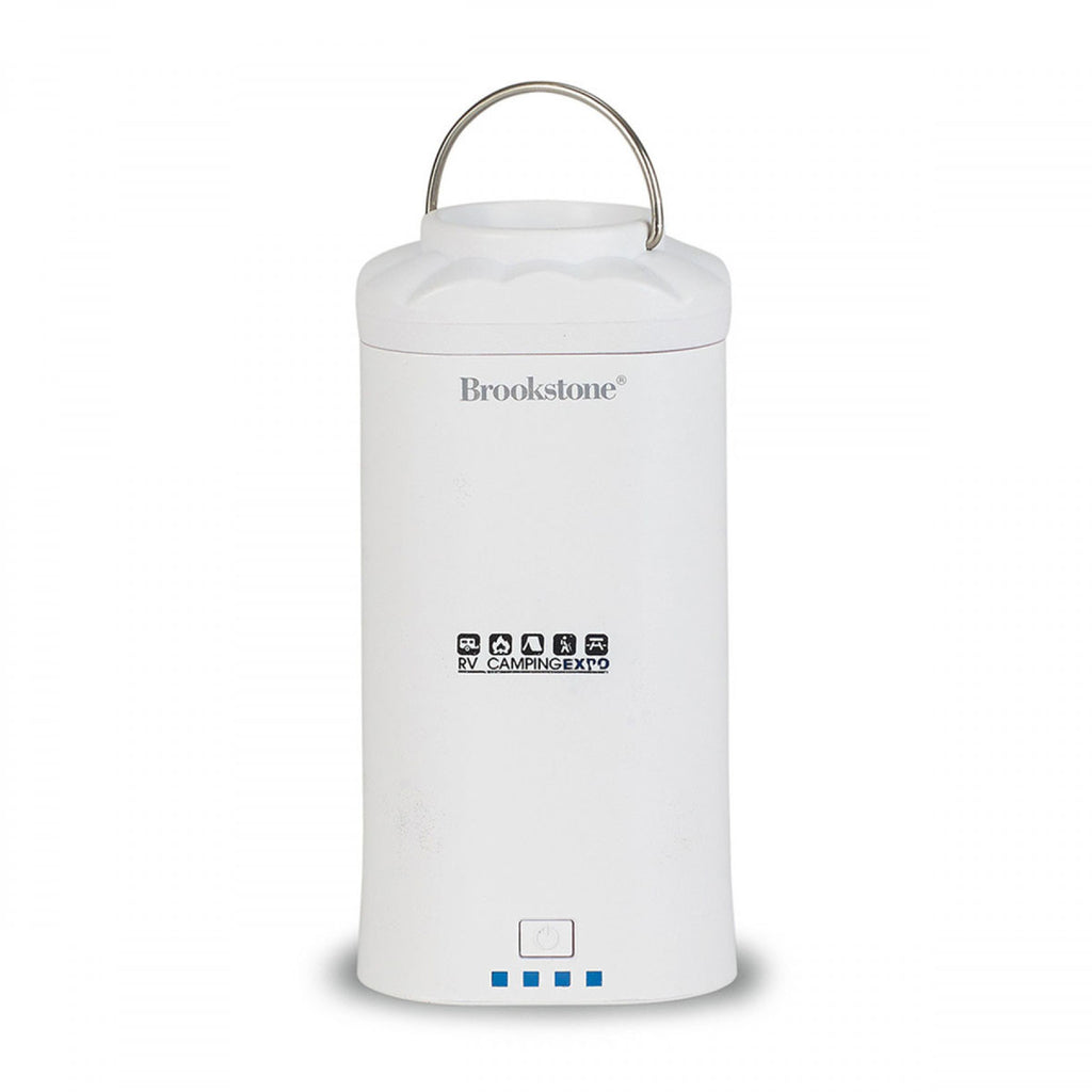 Brookstone White Power Bank Lantern with Flashlight (7800 mAh)