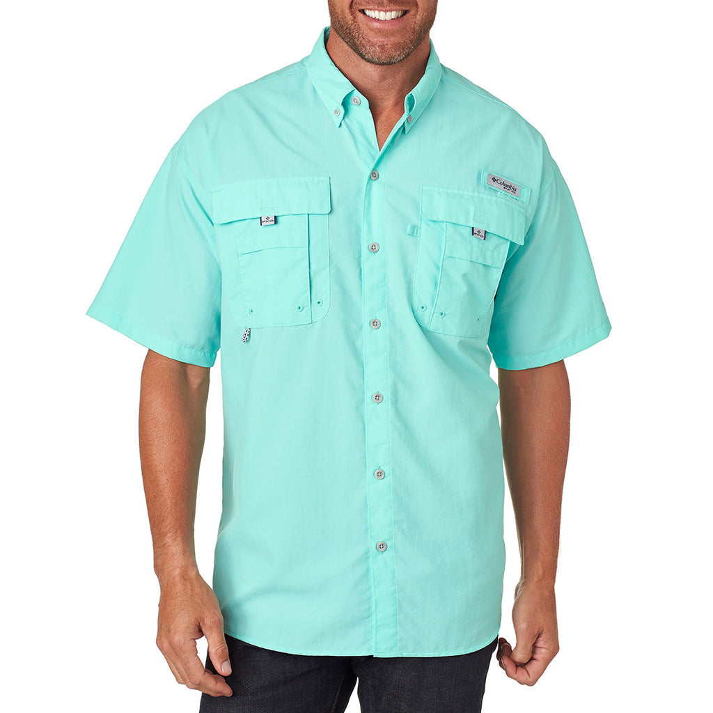3db8fc485005f1 Columbia Men's Gulf Stream Green Bahama II S/S Shirt