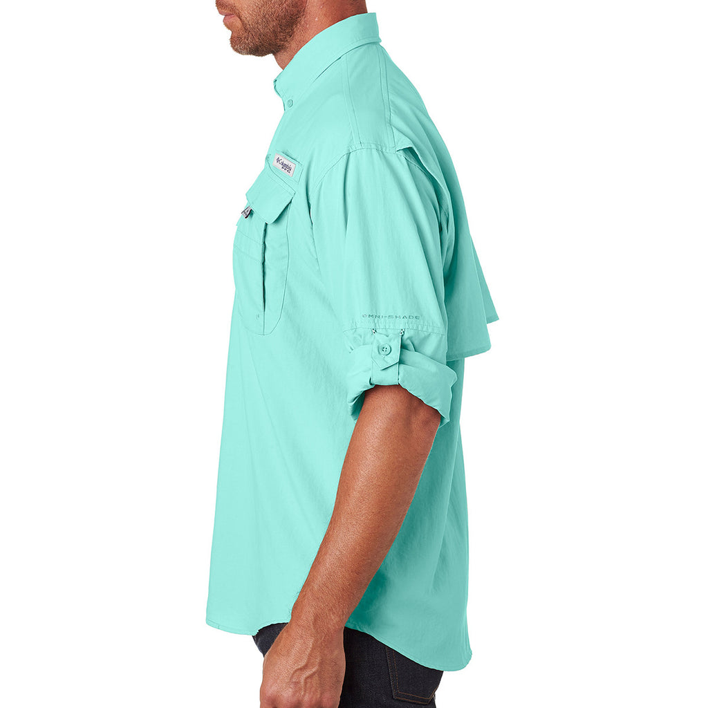 Columbia Men's Gulf Stream Green Bahama II L/S Shirt