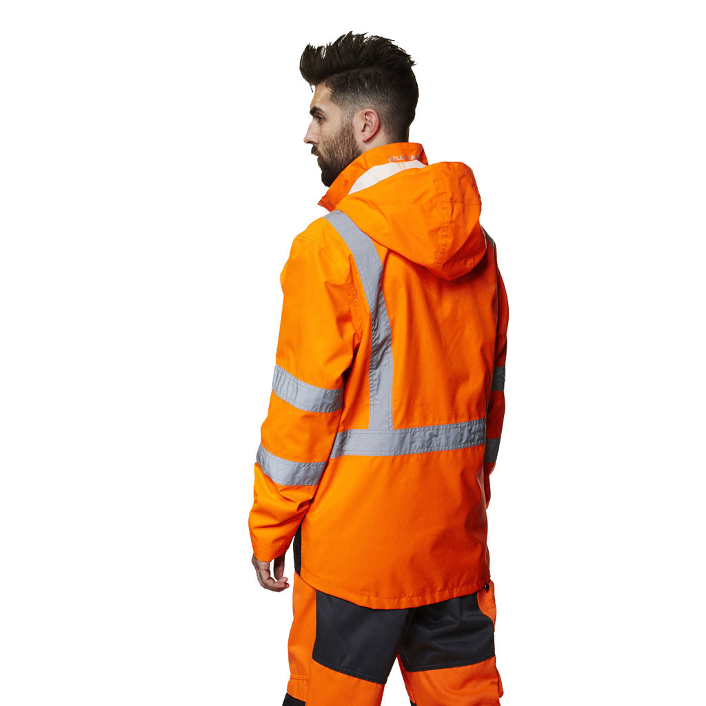 Helly Hansen Men's High Visibility Orange/Charcoal Alta Shell Jacket