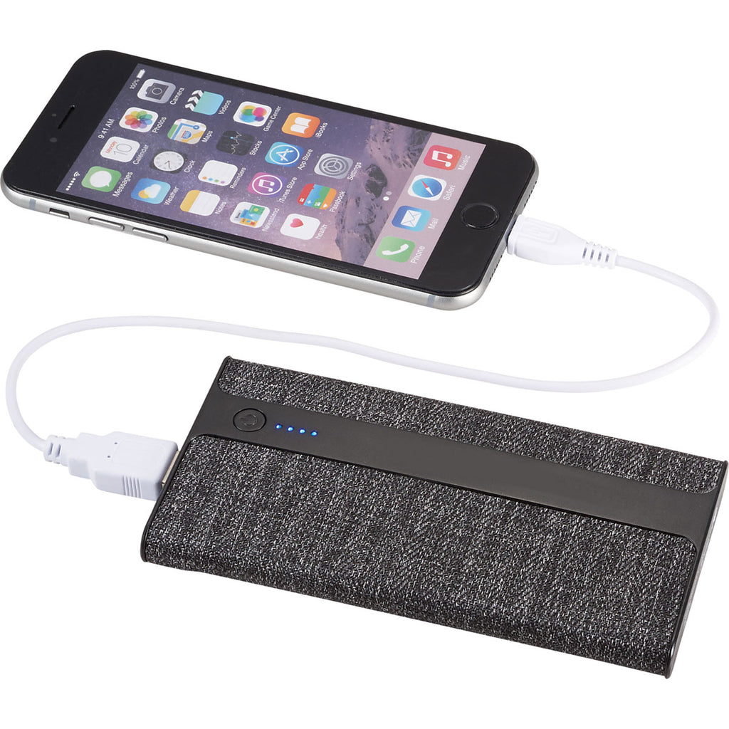 Leed's Grey Zeal Fabric 4000 mAh Power Bank