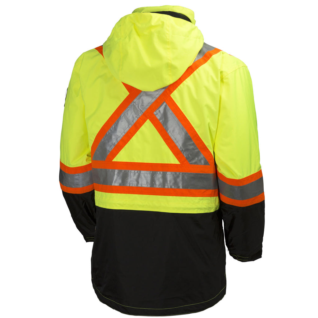 "Helly Hansen Men's High Visibility Yellow/Charcoal Potsdam Jacket 4""Striping"