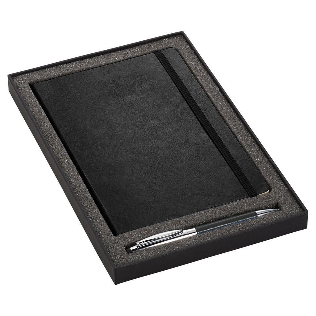 JournalBooks Black Abruzzo Soft Bound Bundle Gift Set