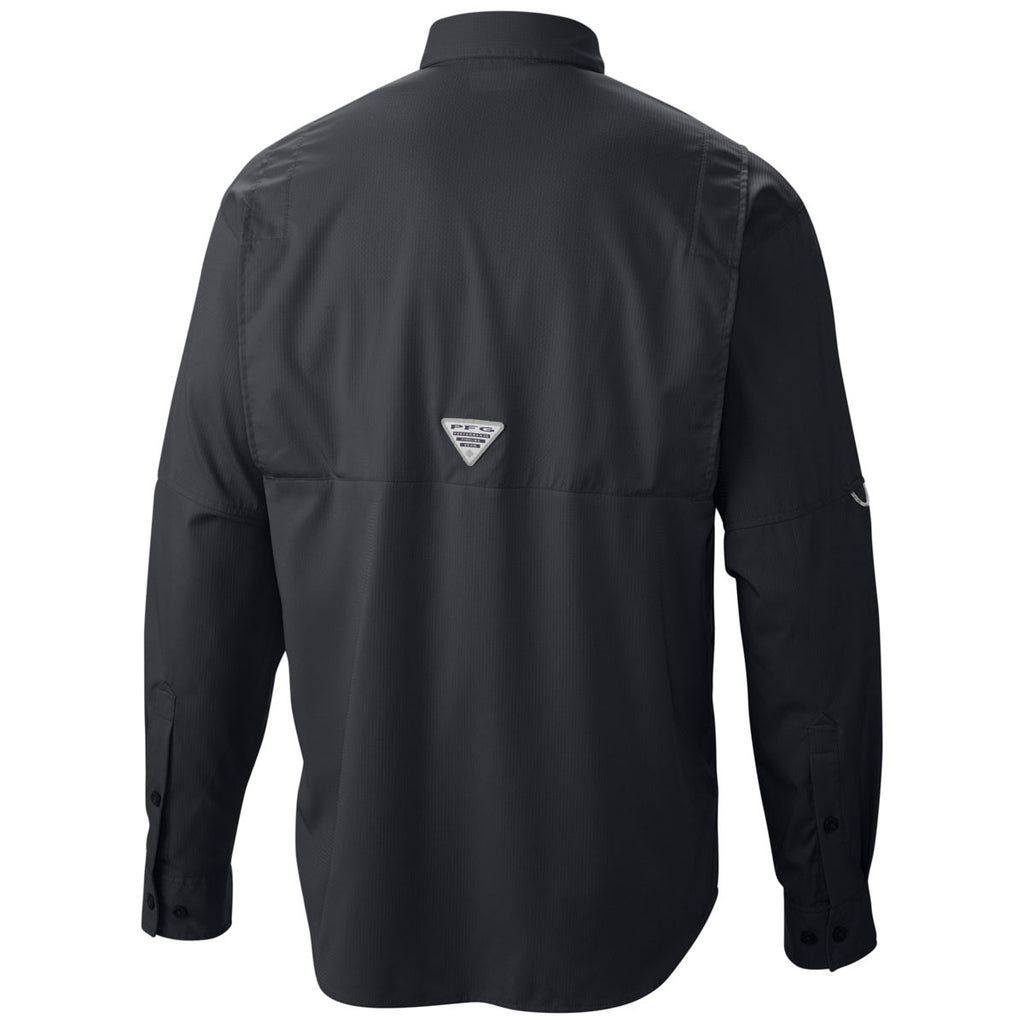Columbia Men's Black PFG Tamiami II Long Sleeve Shirt