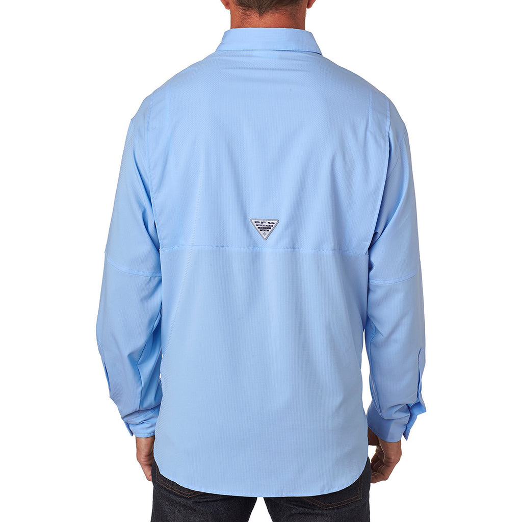 Columbia Men's Sail Blue Tamiami II L/S Shirt
