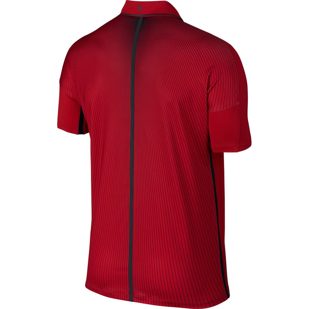 Nike Men's Universty Red TW Velocity Max Glow Framing Polo