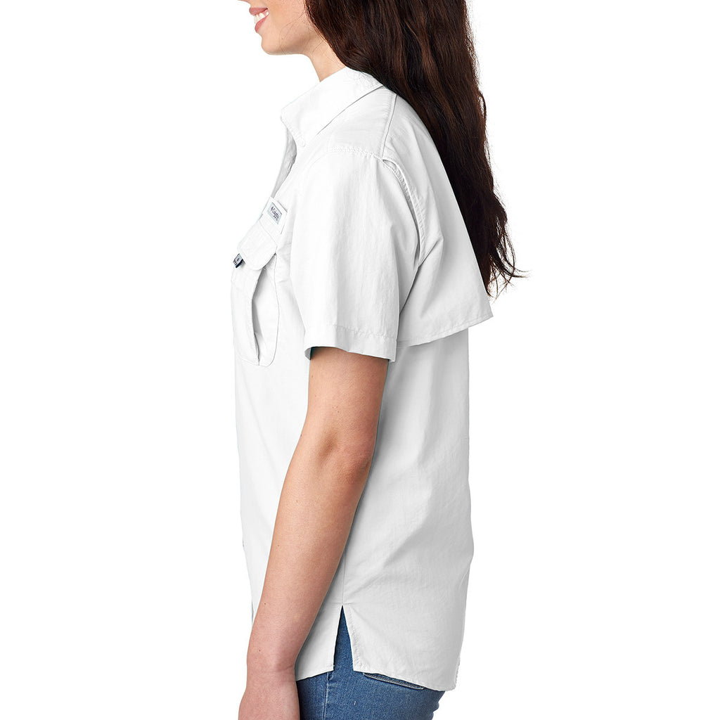 Columbia Women's White Bahama S/S Shirt