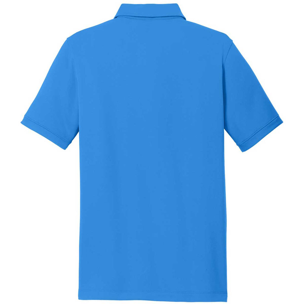Nike Men's Light Blue Dri-FIT Solid Icon Pique Polo