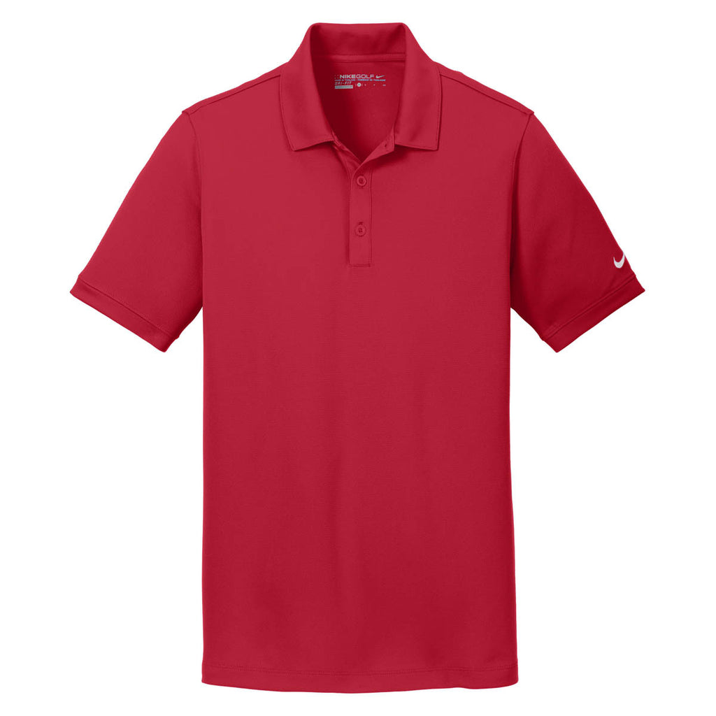 9ba88955 Nike Men's Red Dri-FIT Solid Icon Pique Polo. ADD YOUR LOGO