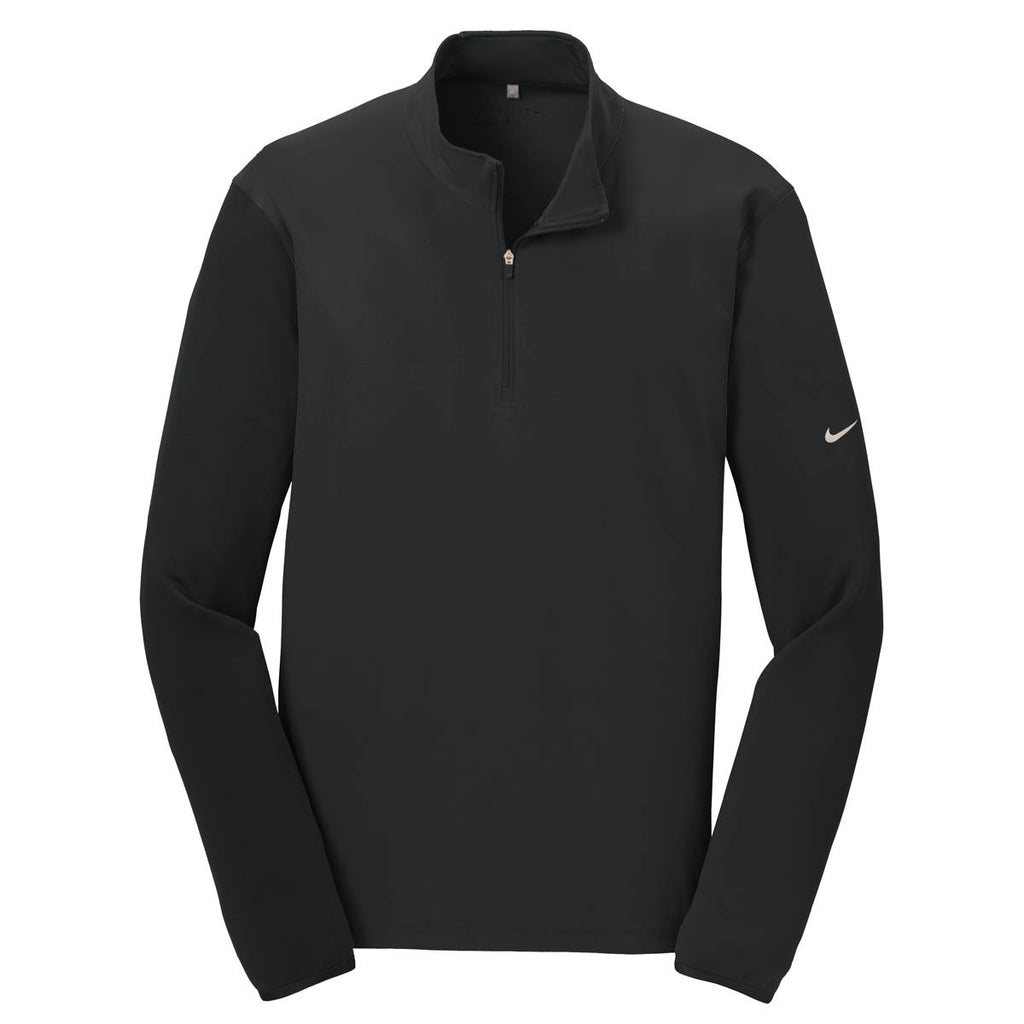 8938fd77e9 Nike Men's Black Dri-FIT Mix Half Zip Pullover