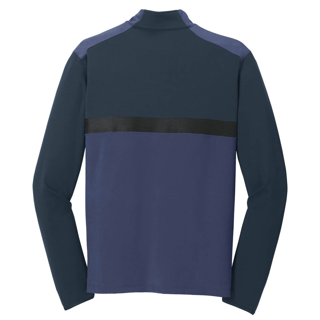 Nike Men's Dark Navy/Obsidian Dri-FIT Mix Half Zip Pullover