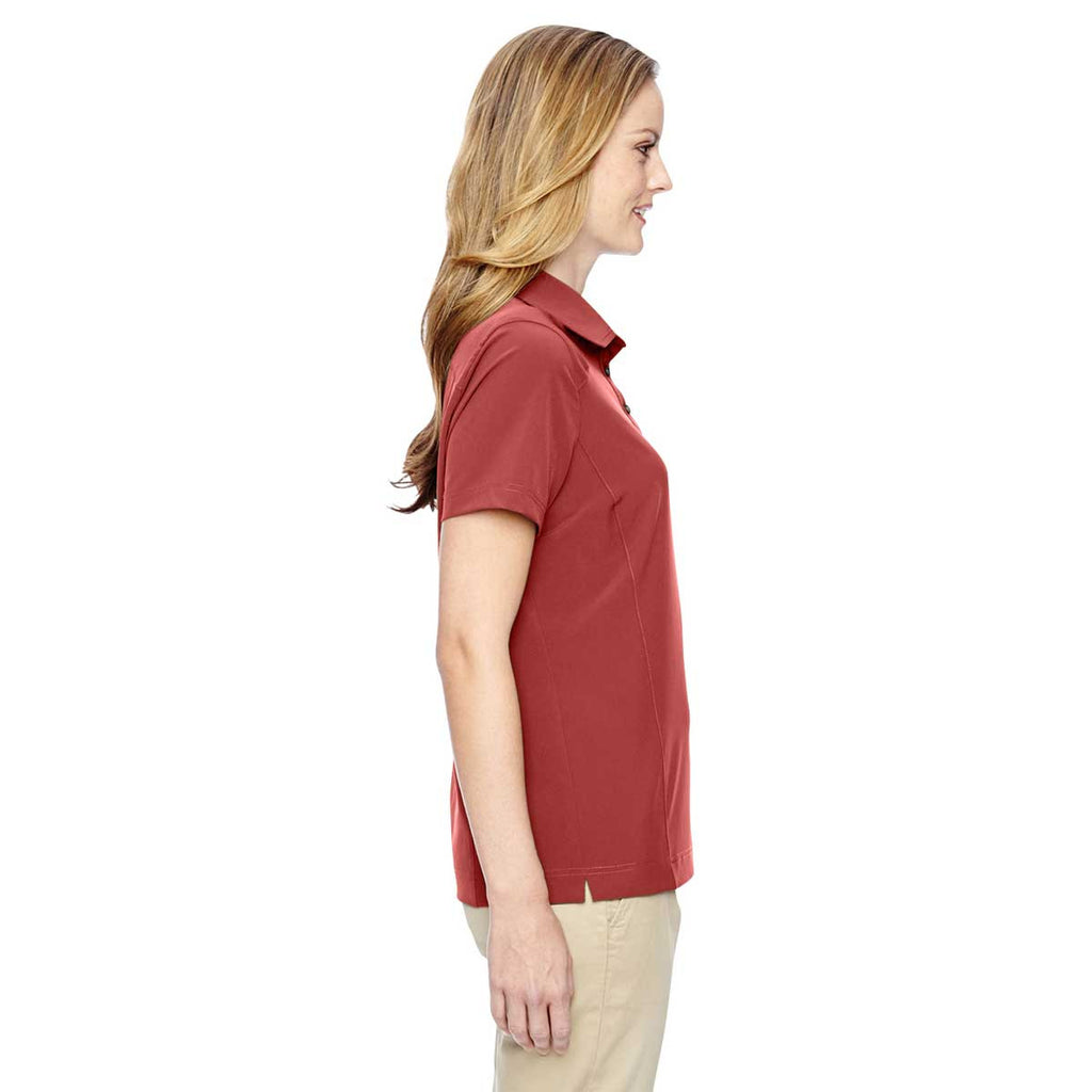 North End Women's Rust Excursion Crosscheck Woven Polo