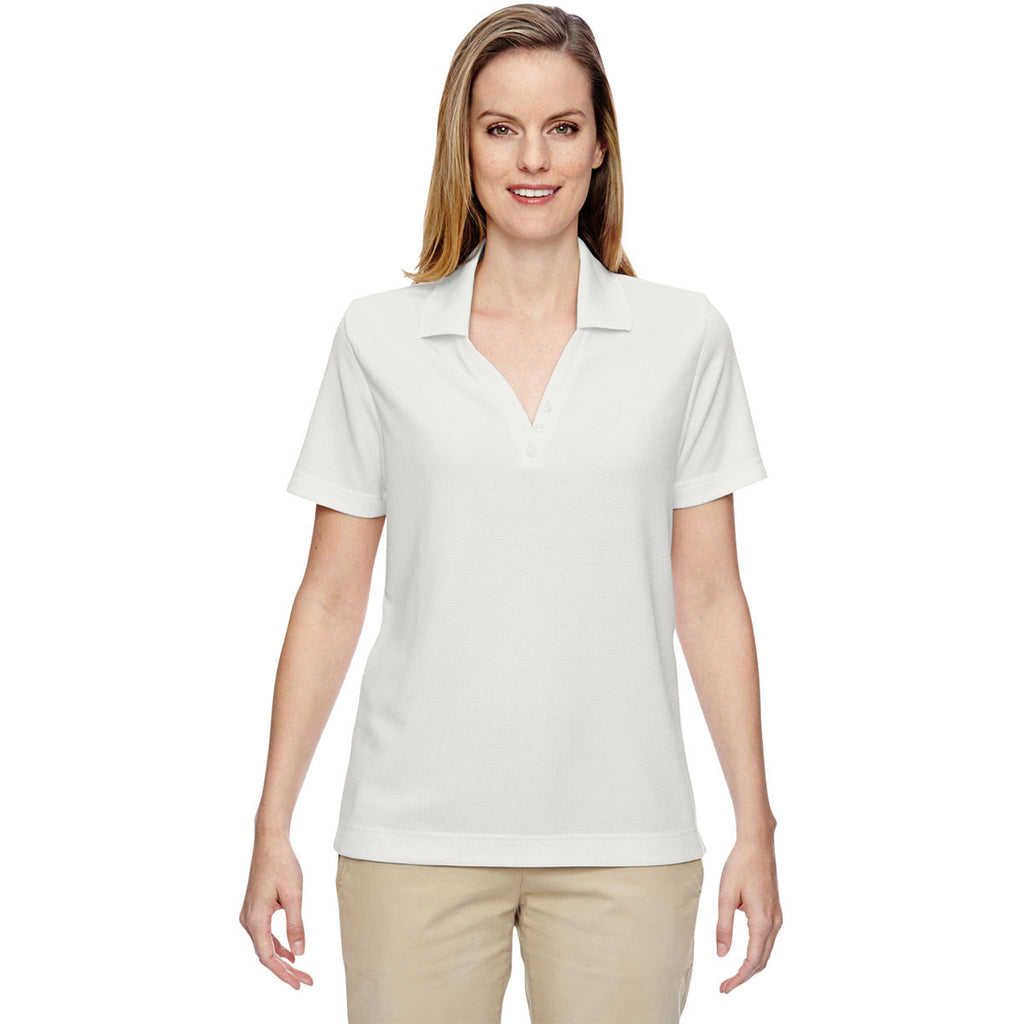 North End Women's Crystal Quartz Excursion Nomad Performance Waffle Polo