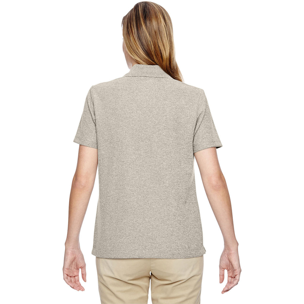 North End Women's Stone Excursion Nomad Performance Waffle Polo
