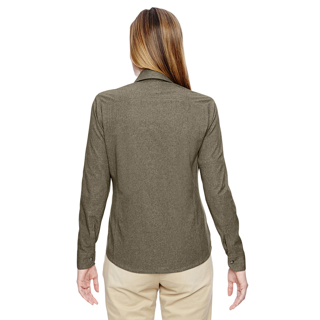 North End Women's Dark Oakmoss Excursion Utility Two-Tone Performance Shirt