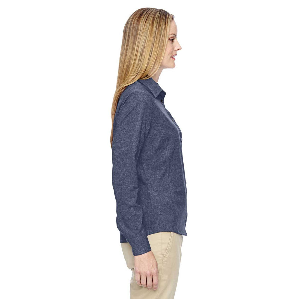 North End Women's Navy Excursion Utility Two-Tone Performance Shirt
