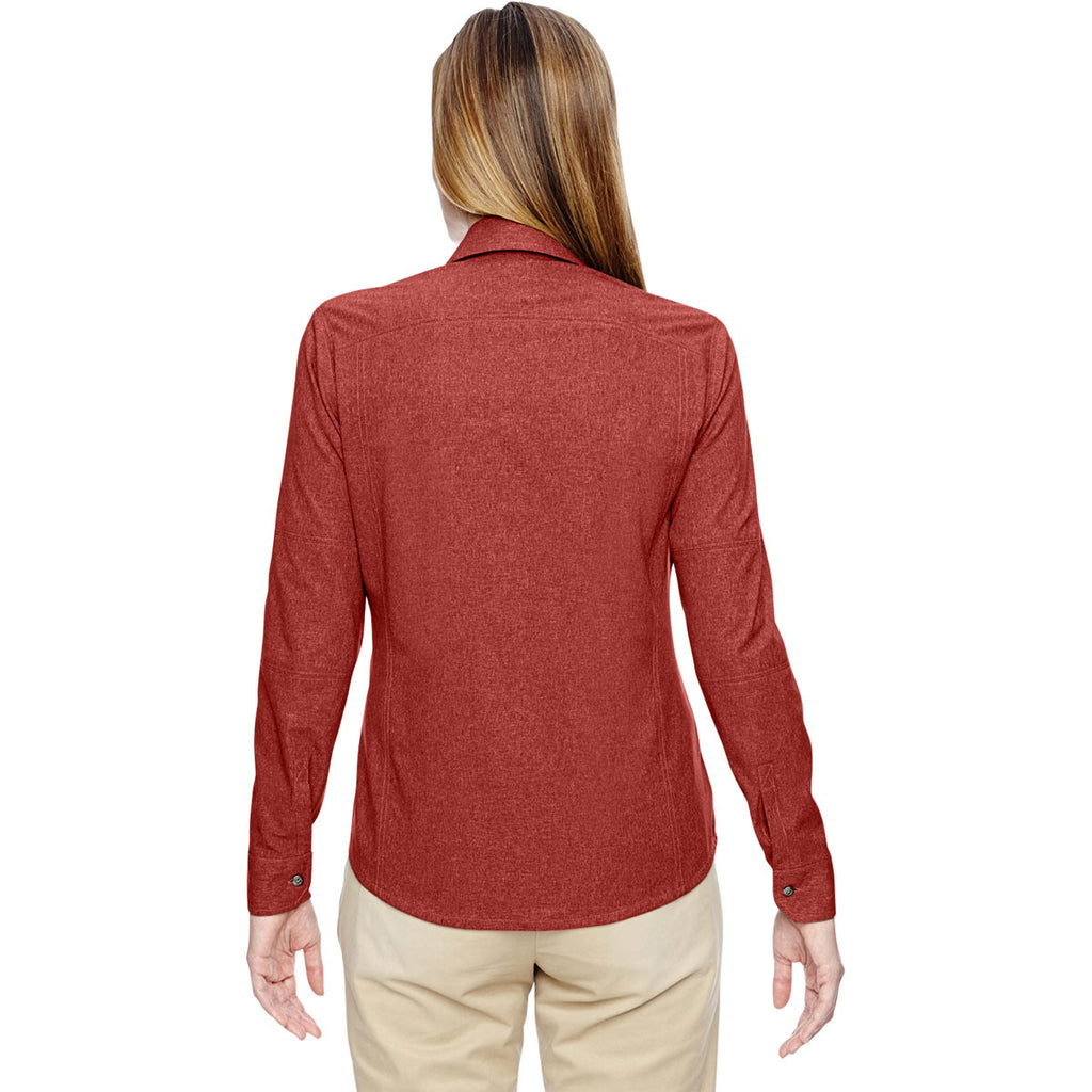 North End Women's Rust Excursion Utility Two-Tone Performance Shirt