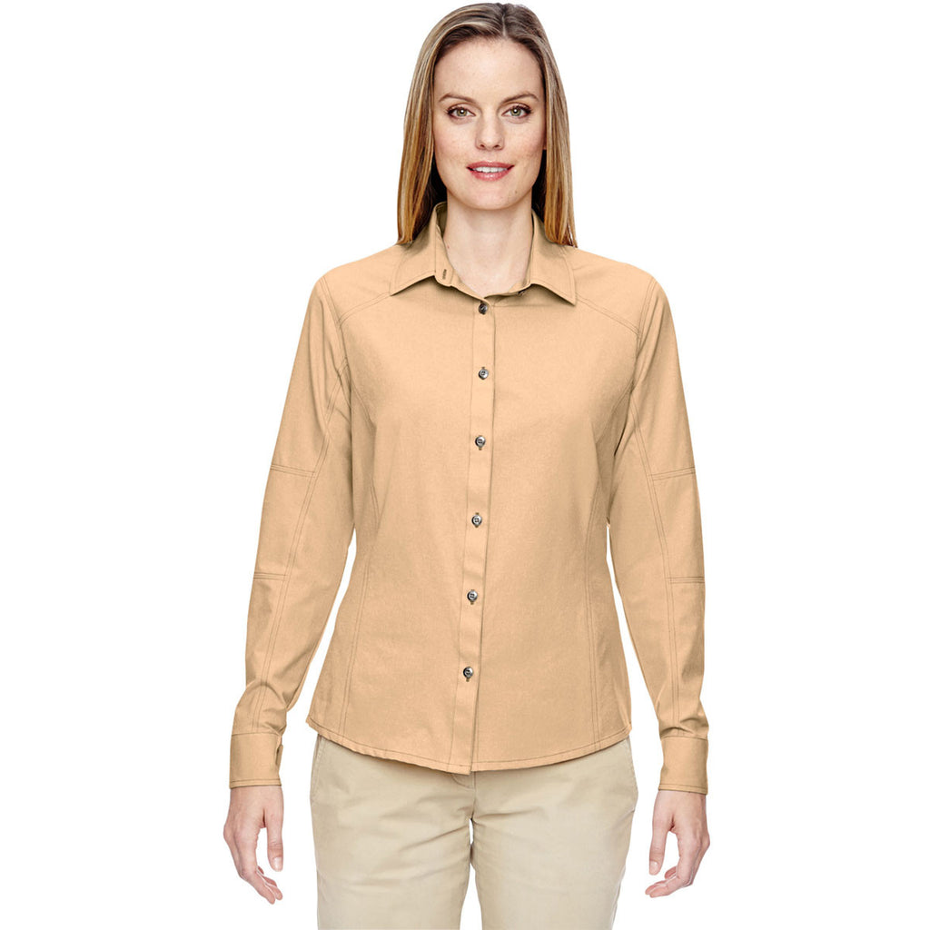 North End Women's Stone Excursion Utility Two-Tone Performance Shirt