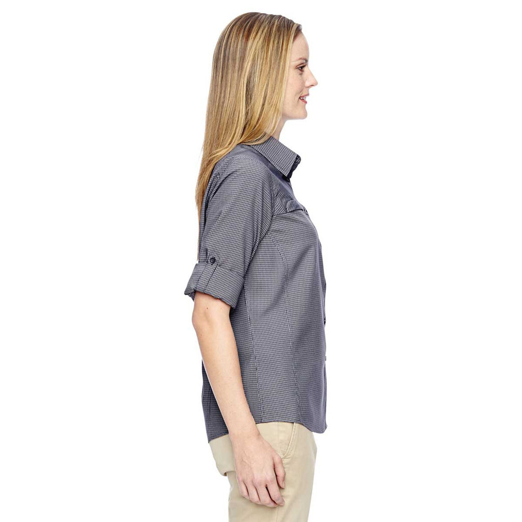 North End Women's Navy Excursion F.B.C. Textured Performance Shirt