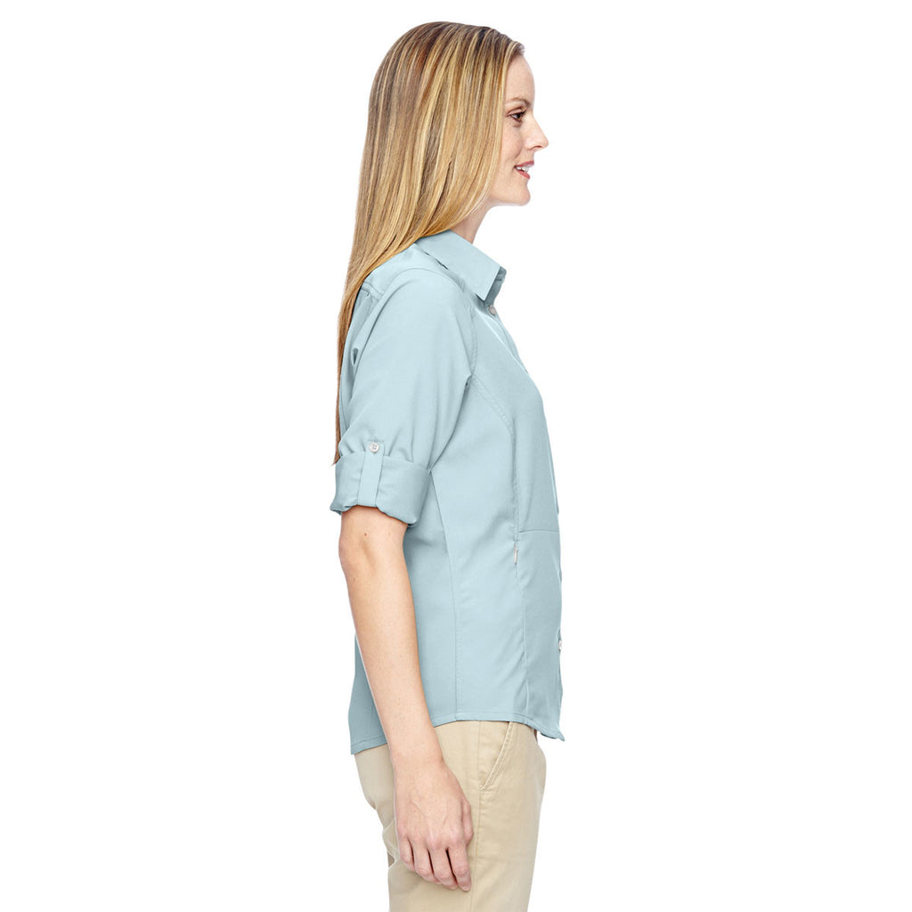 North End Women's Crystal Blue Excursion Concourse Performance Shirt