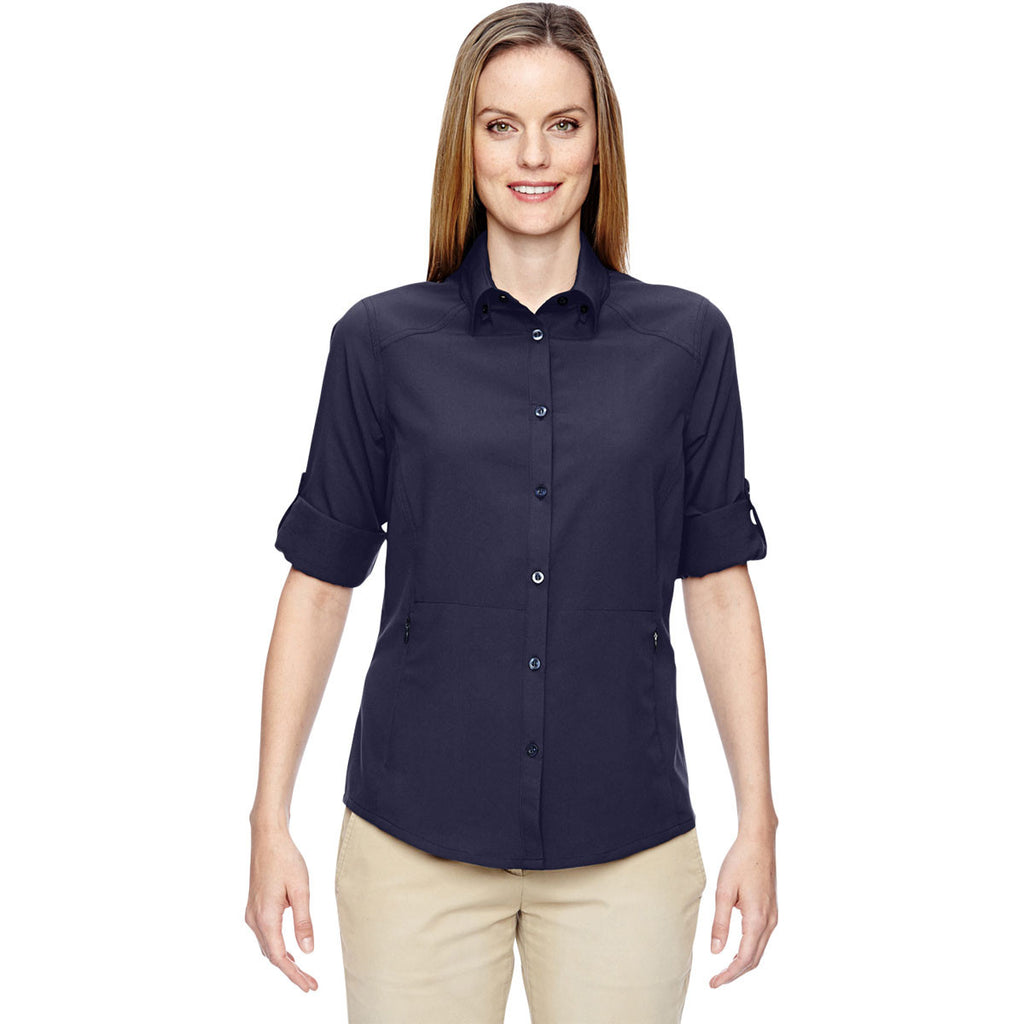 North End Women's Navy Excursion Concourse Performance Shirt