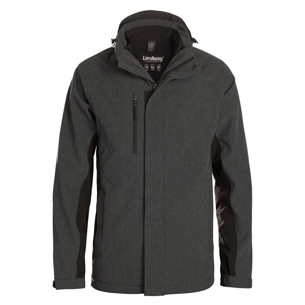 new balance men's hooded softshell 3-in-1 system jacket
