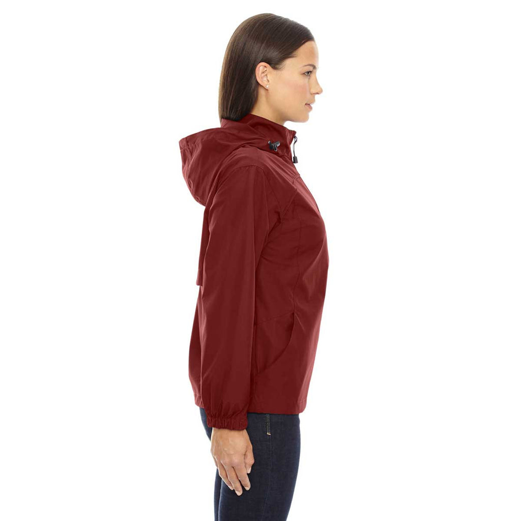 North End Women's Molten Red Techno Lite Jacket