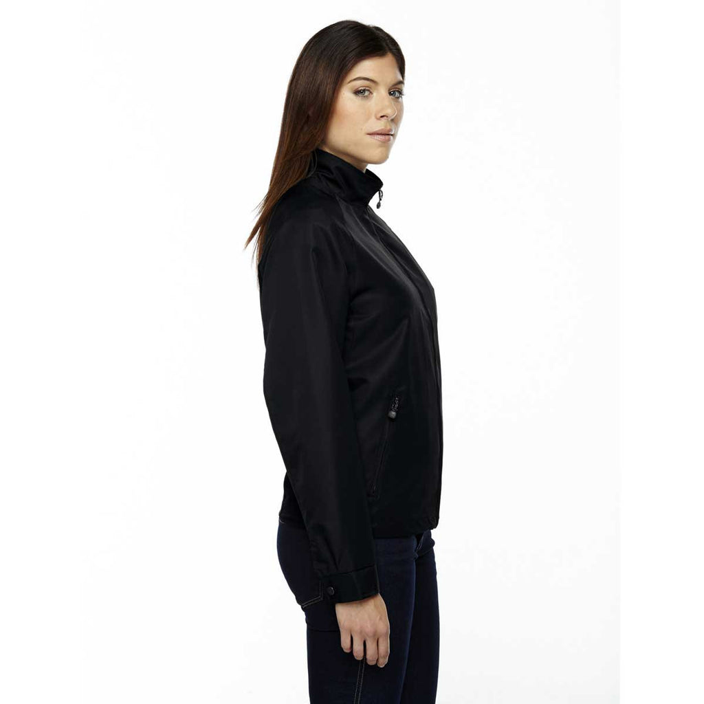 North End Women's' Black Mid-Length Micro Twill Jacket